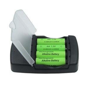 Image 3 - USB חכם סוללה מטען עבור LR03 AA LR6 AAA LR61 AAAA אלקליין 1.5V סוללה נטענת עם אינטליגנטי LED מחוון