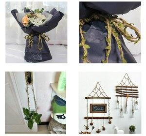 Image 5 - 5 м/лот натуральная пеньковая лента, рулон зеленых листьев, винтажные Свадебные украшения в деревенском стиле, коробка/цветы, веревка для свадьбы, вечеринки