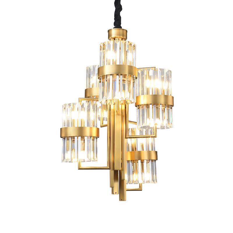 Us 651 75 21 Off Modern Golden Light Luxury Crystal Chandelier Personality Villa Duplex Building Decorative Lighting In Chandeliers From Lights