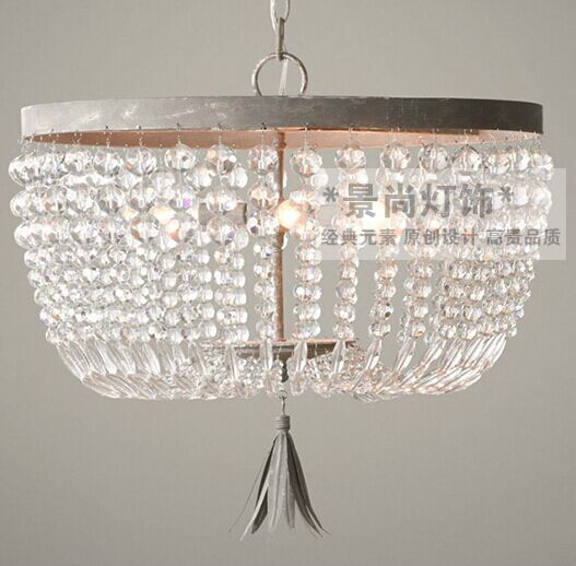 American Loft Crystal Corridor Pendant Light France Copper Color Living Room Bedroom Dining Room Study Room Bar Pendant Lamps