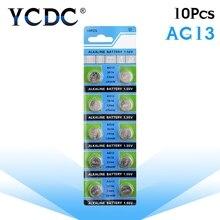 YCDC дропшиппинг+ горячая Распродажа+ 10 шт. AG13 LR44 LR1154 SR44 A76 357A 303 357 батарейка для монет 1,55 в щелочные для часов игрушки