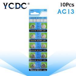YCDC поле доставка + Лидер продаж + 10 шт. AG13 LR44 LR1154 SR44 A76 357A 303 357 Батарея монет Cell 1,55 В щелочные Часы игрушки