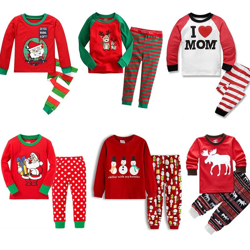 new years home clothes kids boys christmas pajamas childrens two piece sleepwear pajamas set winter autumn kids pyjamas suit