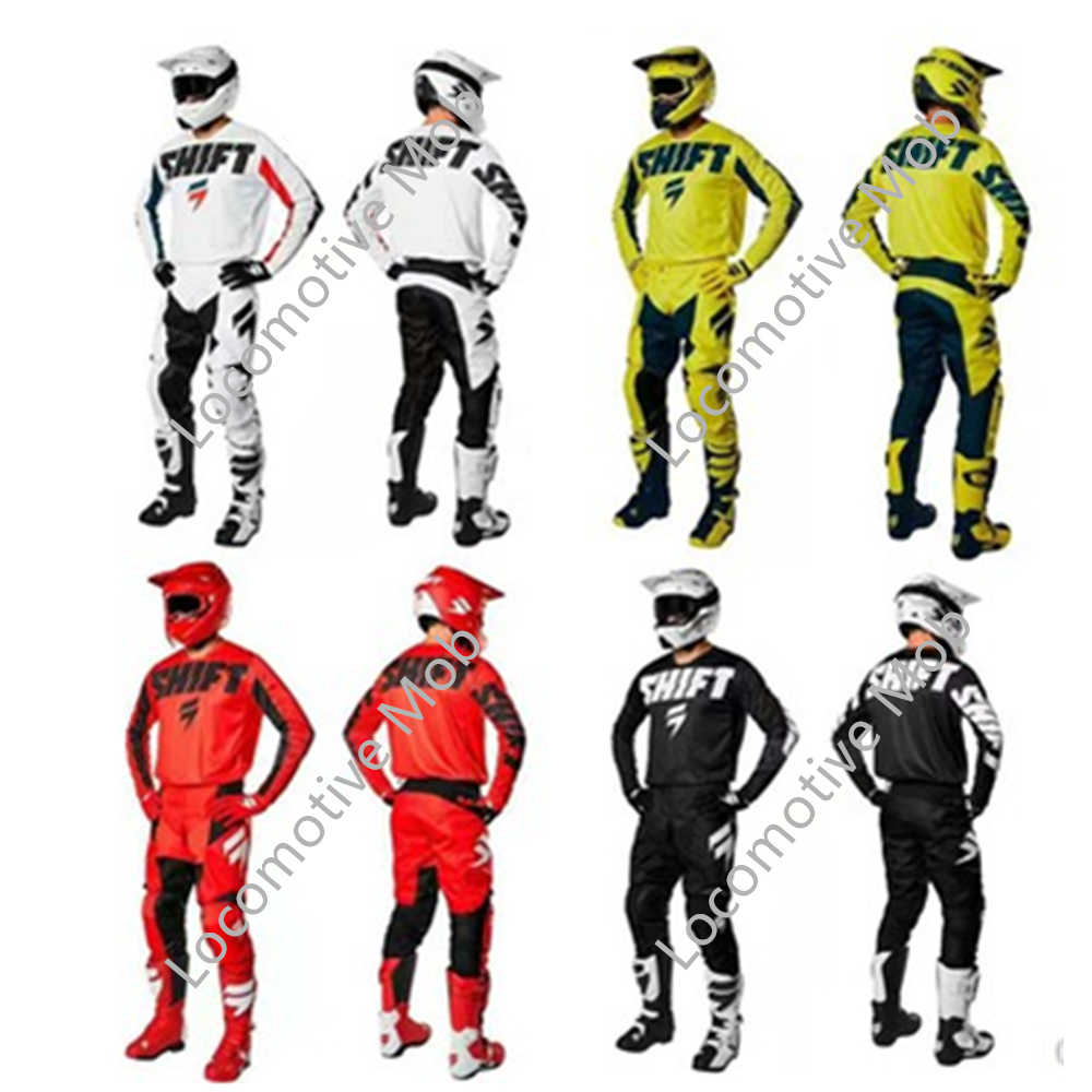 2019 nouvelle Moto course équitation MX Gear ensemble Motocross pantalon et Jersey Moto costume vtt ATV Dirt Bike ensembles vêtements J