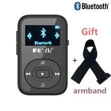 """RUIZU X26 Clip Bluetooth reproductor de MP3 8 GB 1.1 """"Bluetooth Deporte Radio FM Grabador de Voz reproductor de música mp3 Soporte de Tarjeta SD + Brazo banda"""