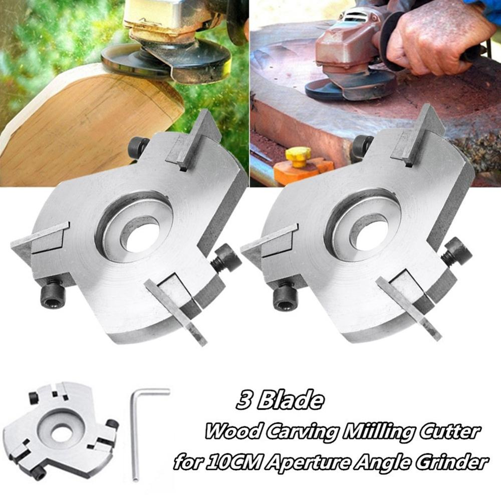 Power Wood Carving Cutter tool Angle Grinder Attachment Detachable/Round/Flat teeth For 90mm Aperture Angle Grinder