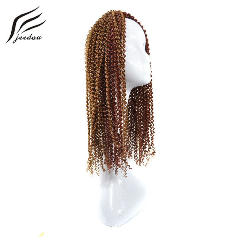 jeedou Braiding Hair Spring Twist 20 100g/Lot Synthetic Crochet Braids Hair Extensions Fulani Braids for Women of All Ages ...