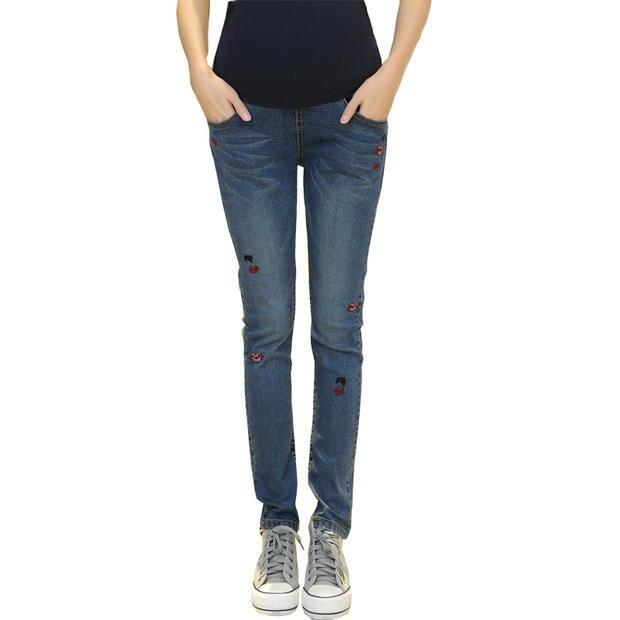 2016 зимние брюки для беременных бьянка брюшной беременности брюки джинсы для беременных женщин