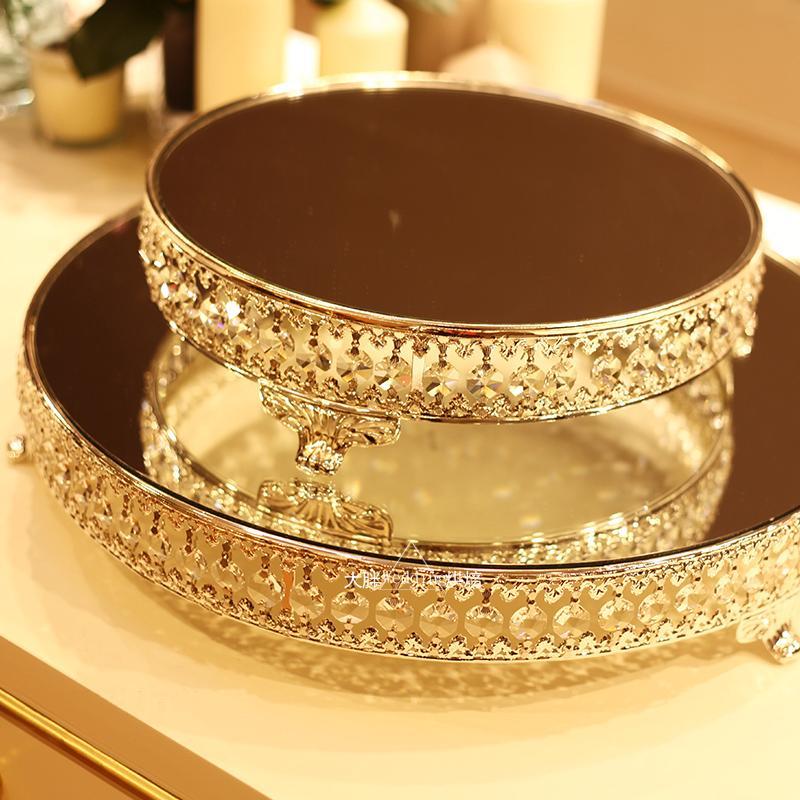 серебряное зеркало лоток