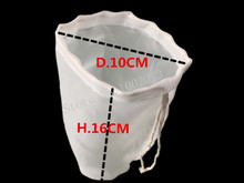 2pcs/lot 16*10cm nylon filter bag food grade for home brew beer wine brewing milk tea juice making fish tang