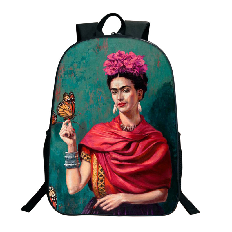 Hot Sale Frida Kahlo Pattern School Bag For Girls Children School Bags For Teenagers Boys Women Travel Shoulder Bag School Gifts фотобарабан xerox 113r00779 для xerox versalink b7000