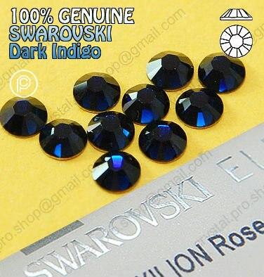 ss7 GENUINE Swarovski Elements Dark Indigo (288) 432 pcs 7ss ( No hotfix  rhinestones)-in Stones from Home   Garden on Aliexpress.com  116965bca148
