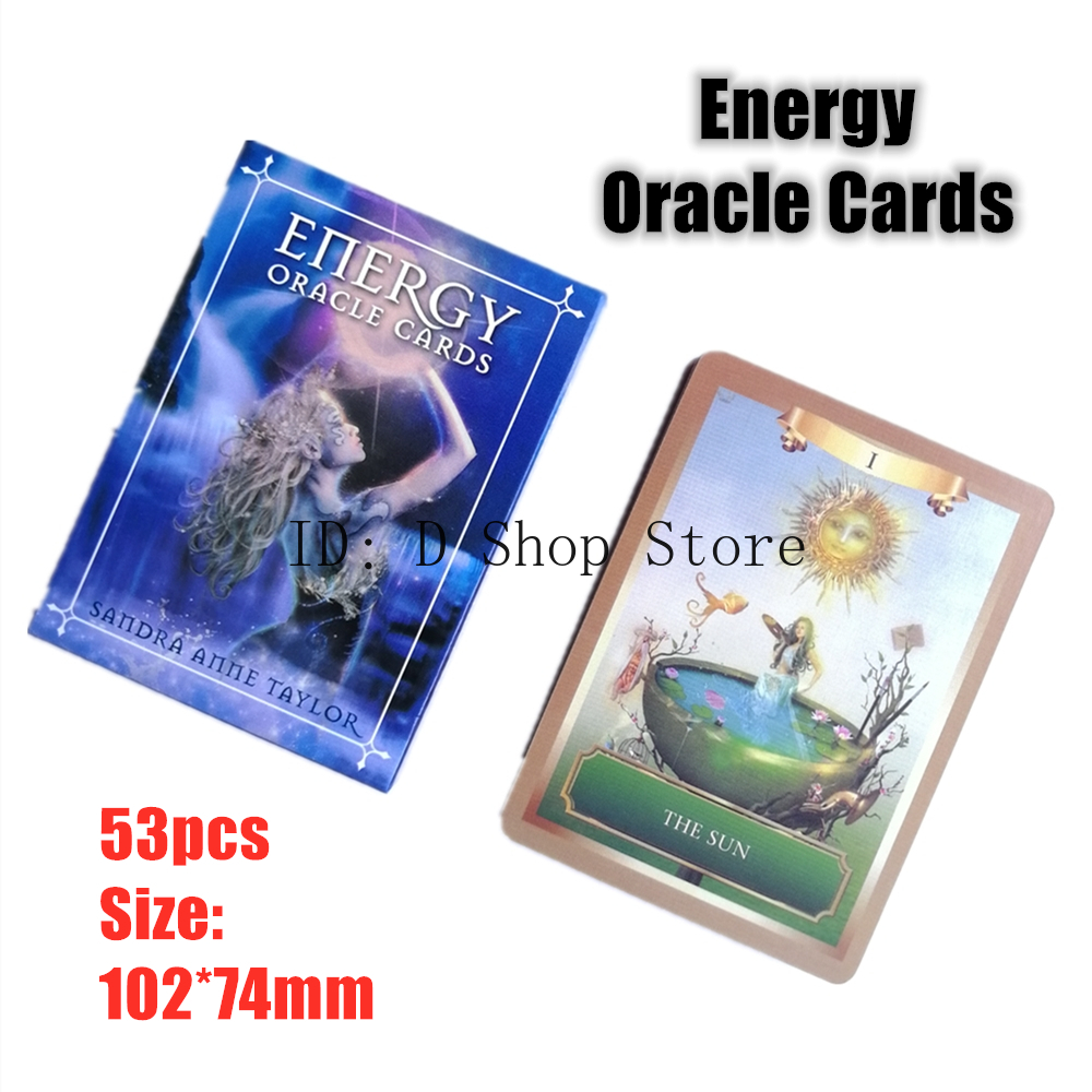 Energy Oracle Cards 53pcs English Board Game Divination Cards Mystic Fate