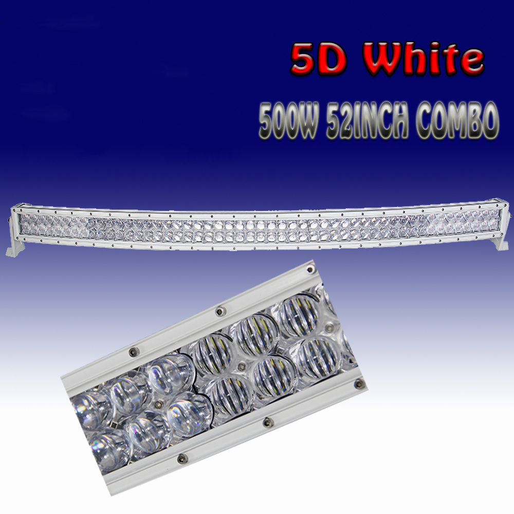 """4D White 50/"""" Inch Curved 672W Led Work Light Bar Combo Offroad 4WD ATV UTE 52/"""""""