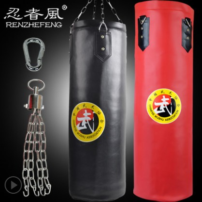Hot ! 80cm/100cm Empty Wing Chun Sanda Muay Thai Boxing Bag Red Yellow Black saco de boxe Punch sacco boxeo Fighting Sandbag jduanl 1pc left right thick leg support boxing pads muay thai mma legs guards protector trainer combat sanda karate training deo