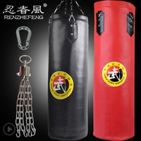 Hot ! 80cm/100cm Empty Wing Chun Sanda Muay Thai Boxing Bag Red Yellow Black saco de boxe Punch sacco boxeo Fighting Sandbag