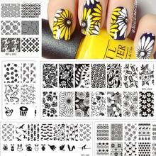 Штамповки штамповка шаблона pretty born изображения штамп трафарет плиты шаблон животных