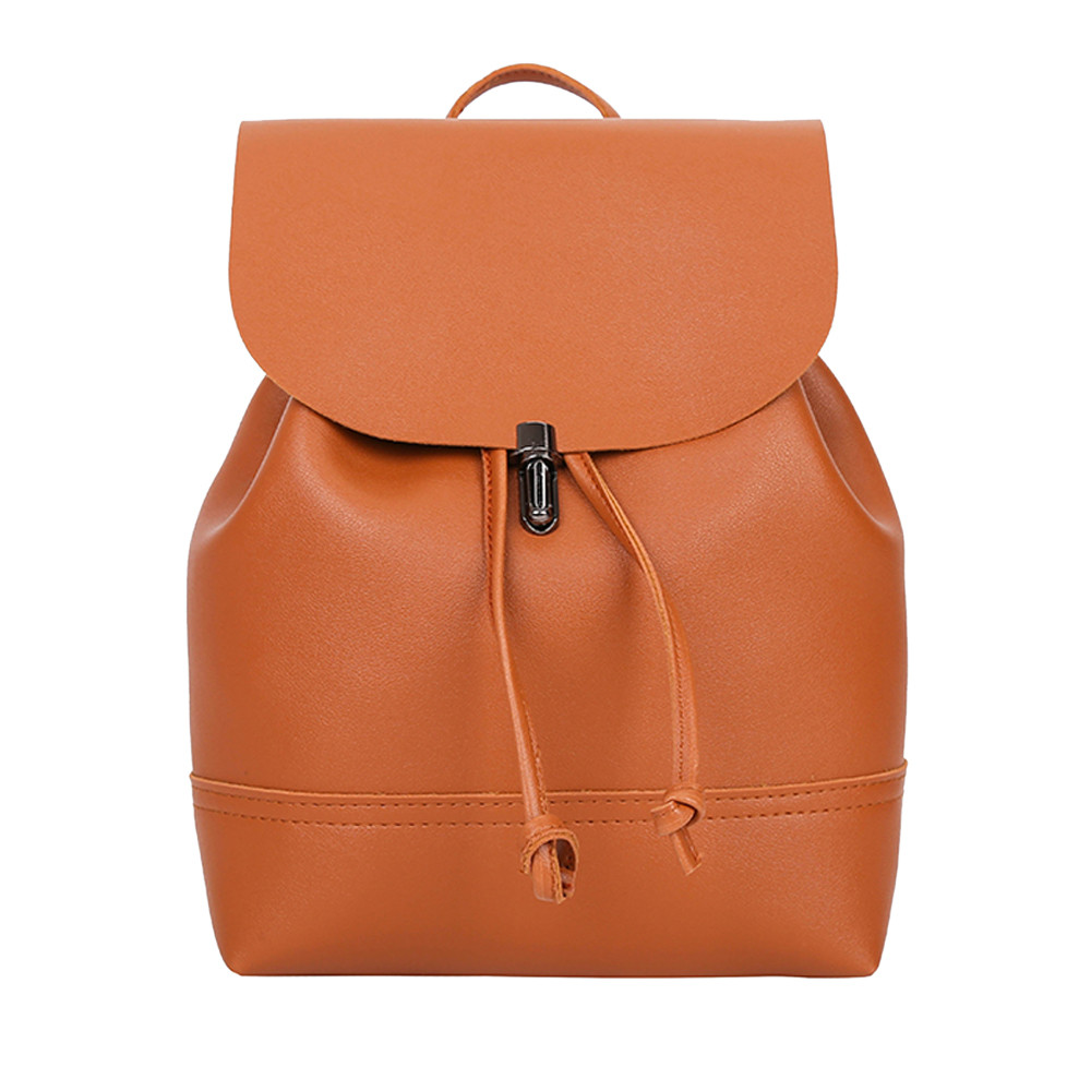 HTB1Ce6qa8GE3KVjSZFhq6AkaFXak - Casual Large Capacity Shoulder Bags Vintage Pure Color Leather School Bag Backpack Satchel Women Trave Shoulder Bag