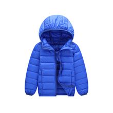 Winter Jacket Boy Kid Light Duck Down Coat Children Hooded Warm Toddler Girl Jacket 2018 Spring Outwear Age 5 6 7 8 9 10 11 Year недорого