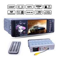 4.1 1 Din Car Radio 4022D Car Audio MP5 Player Bluetooth Stereo Autoradio AUX USB HD Video Remote Control DVR Rear View Camera