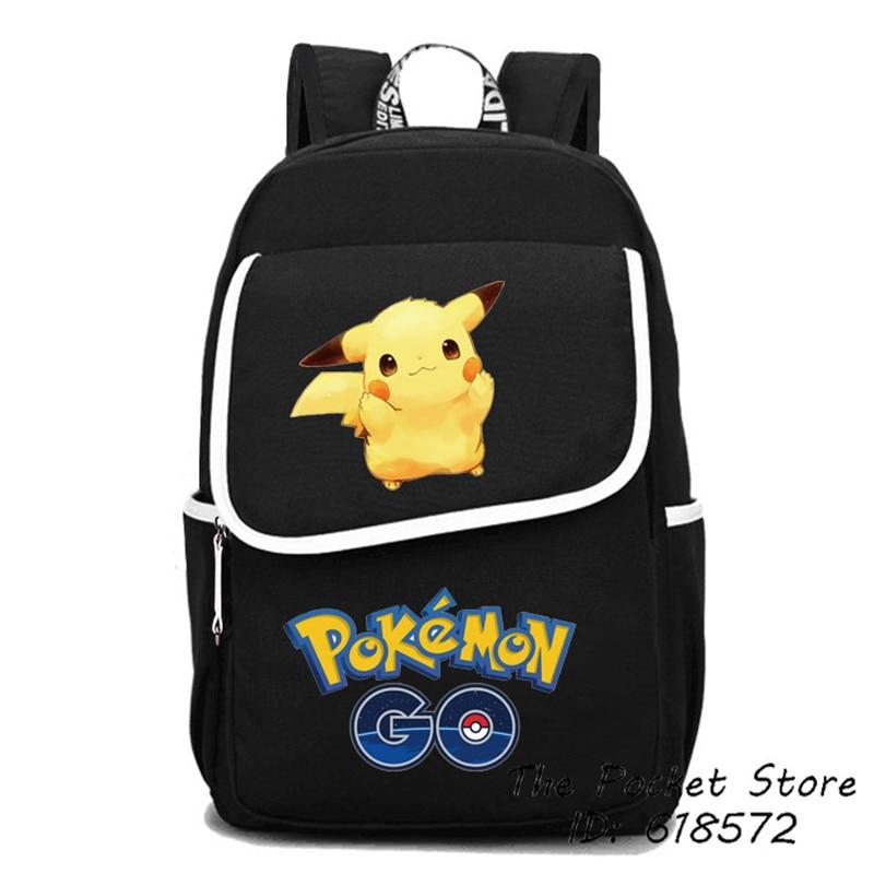 2017 haute qualité Pokemon poche monstre sac à dos Gengar Charmander écureuils Pikachu Kawaii Emoji impression sac à dos sacs d'école