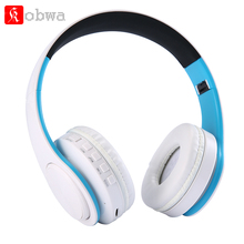 Kobwa Foldable Gaming headphone Bluetooth Headset Stereo Earphone with Microphone Support TF Card