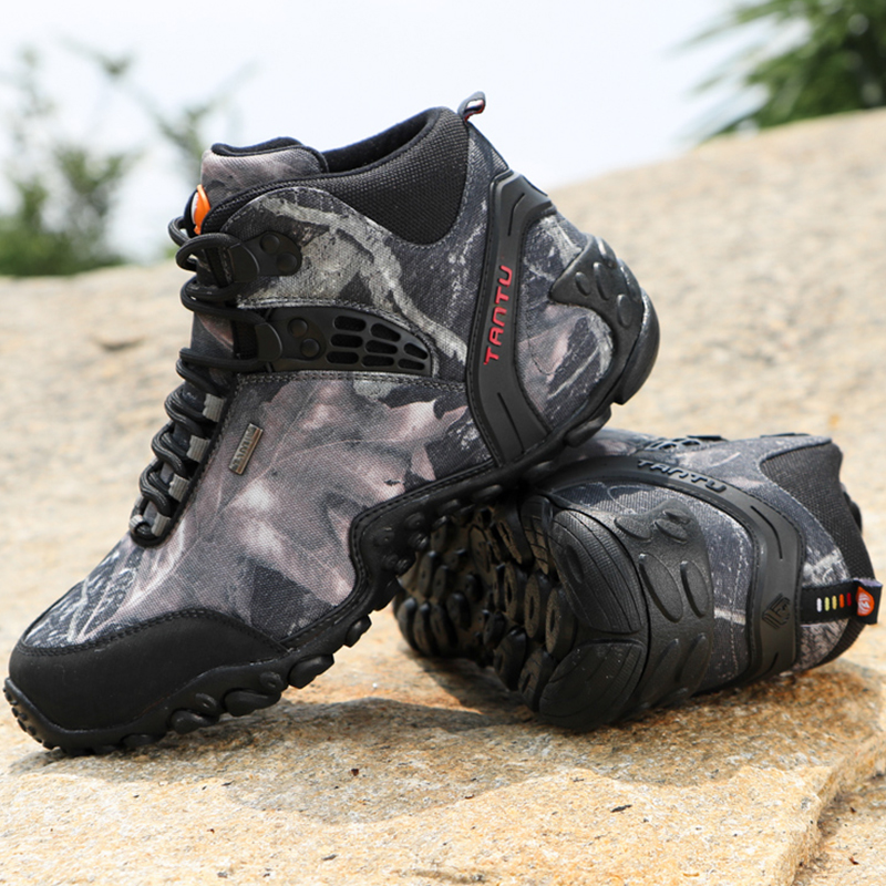 цена на CUNGE Hiking Climbing Shoes DELTA Professional Waterproof Hiking Boots Tactical Boots Outdoor Mountain Climbing Sports Sneakers