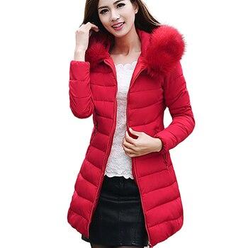 4919de6d8a83a Chaqueta de Invierno para mujer 2018 moda mujer caliente con capucha de  algodón acolchado Parkas para mujer chaqueta de invierno abrigo talla  grande 5XL 50