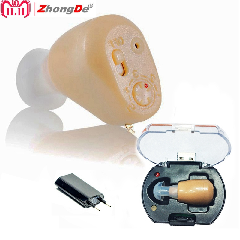 Hot best Rechargeable mini hearing aid ear sound amplifier hearing aids free shipping Tiny voice aid rechargeable hearing aid high grade ear aid hearing aid aids small and convenient hearing aids best sound voice amplifier zdb 100b free shipping