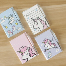 Kawaii Unicorn Portable Memo Pad With Pen Student Paper Stationery School Office Supply Notepads domikee classic vintage craft hardcover office school spiral notebooks set stationery includes pen index memo pad accessories a5