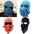 Fashion Creative Tentacle Octopus Knit Beanie Hat Cap Wind Ski Halloween Mask