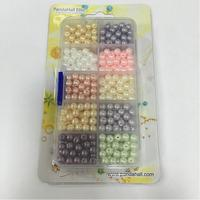 600pcs Box PandaHall Elite 10 Color 6mm Pearlized Round Glass Pearl Beads Mixed Color Glass Beads