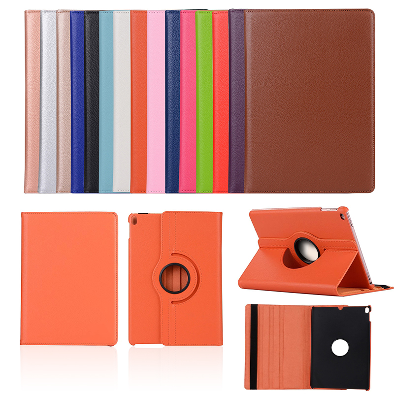 Case for iPad Air 1 2 5 6 Leather Smart Cover Case for iPad 9.7 2017 2018 5th 6th Generation 360 Degree Rotating Coque Funda