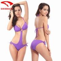 Flybomb Women Bikini Set Swimsuit Micro Bikinis Set Bathing Suits With Halter Strap Swimwear Monokini Swimming