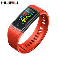 HUINIU S9 Smart Bracelet Bluetooth Waterproof Smartband Color Screen Wristband Heart Rate Fitness Tracker Band For