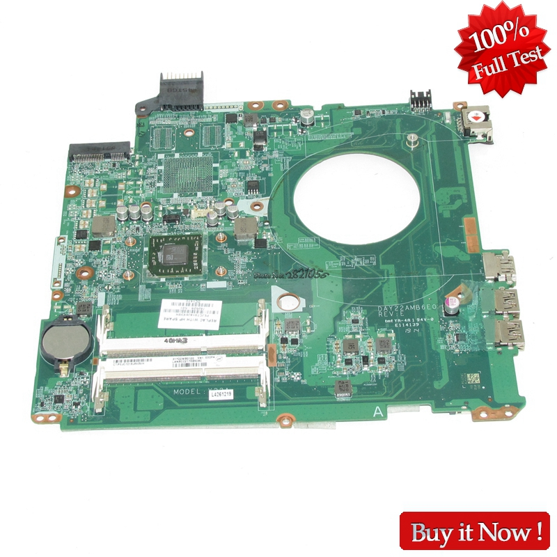 NOKOTION Mainboard 762526-501 762526-001 For HP Pavilion 15-P DAY22AMB6E0 Laptop Motherboard With A8-6410 CPU Onboard