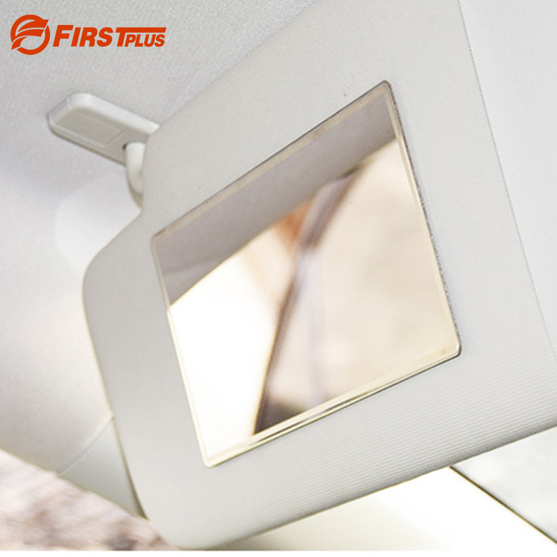 15x8cm Thicken Car Sun Visor Headrest Mount Mirrors Make Up Mirror Interior Rear View Mirror Stainless Steel Pad Fashion Styling кеды studio 2 tx se