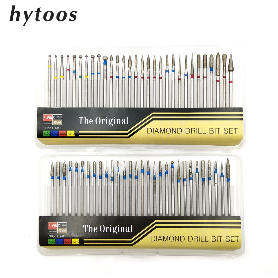 HYTOOS 30Pcs/set Diamond Drill Bit Set 3/32