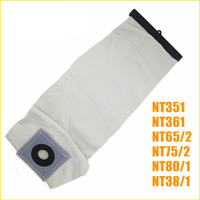 TOP Quality Washable Vacuum Cleaner Parts For KARCHER VACUUM CLEANER Cloth DUST Filter BAGS NT351 NT361