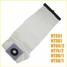 En kaliteli yıkanabilir elektrikli süpürge parçaları KARCHER elektrikli süpürge bez toz filtre torbaları NT351 NT361 NT65/2 NT75/2 NT80/1