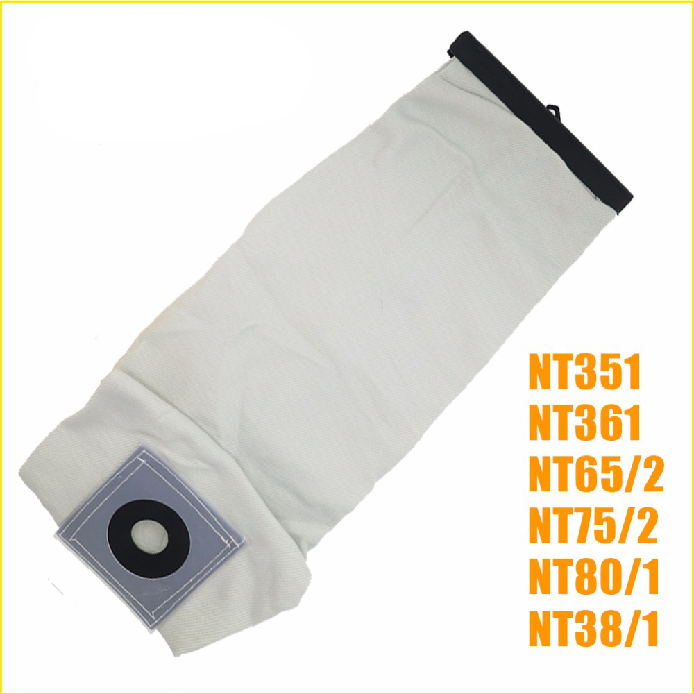 TOP quality Washable Vacuum Cleaner parts For KARCHER VACUUM CLEANER Cloth DUST Filter BAGS NT351 NT361 NT65/2 NT75/2 NT80/1 karcher vacuum cleaner bag washable cloth bags for bv5 1 reuse pattern parts free shipping