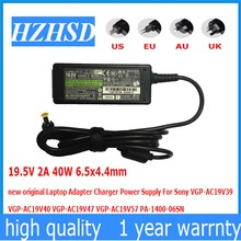 19.5V 2A 40W 6.5x4.4mm new original Laptop Adapter For Sony