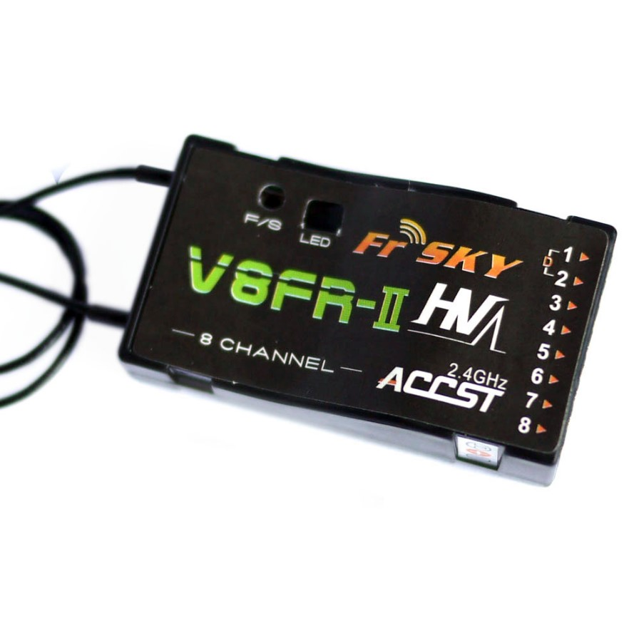 Original FrSky V8FR-II HV Version 8CH 2.4Ghz High Voltage Receiver for Multi Rotor Parts