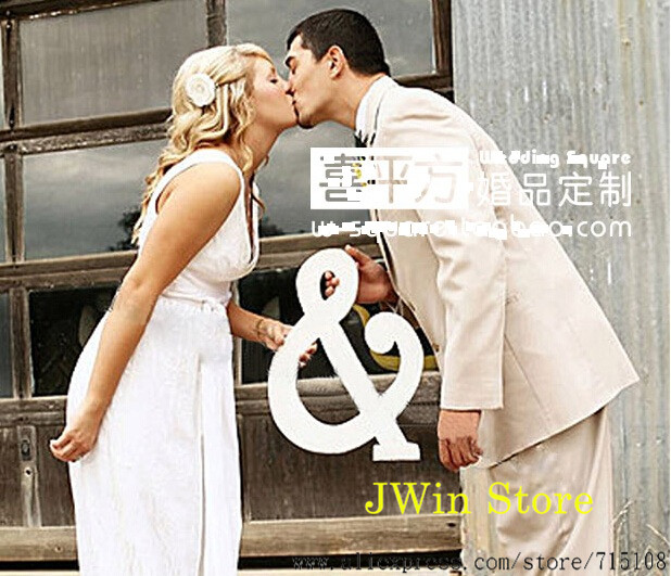 White Letter & Big Size Wedding Home Decoration Three-Dimensional Letter Wedding Props Photo Props Waterproof Letter & 30*22.5cm