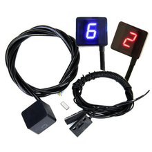 BLUE/RED Universal Strong magnet Ultra thin Motorcycle 6 Speed Digital Gear Indicator Motorcycle Display Shift Lever Sensor