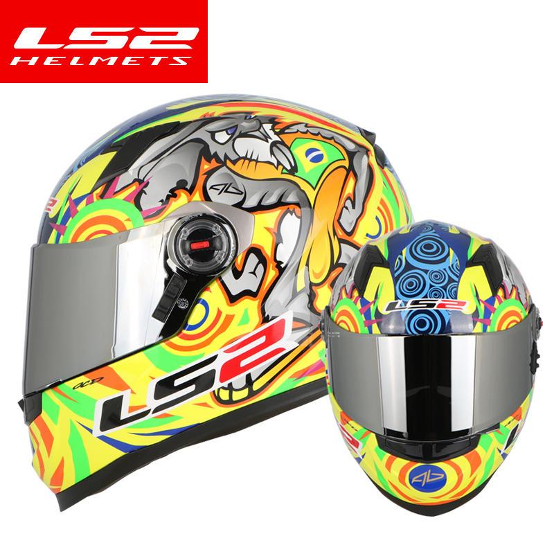 LS2 Magasin D'origine FF358 Plein Visage moto rcycle Casque Alex Barros Capacetes de moto ciclista Hommes Racing Casque moto Casco nouveau