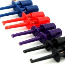 Новинка, 10 шт., мультиметр, провод, тест, крюк, зажим, электронный мини-пробник, набор, 5 цветов, для мультиметра, инструмент