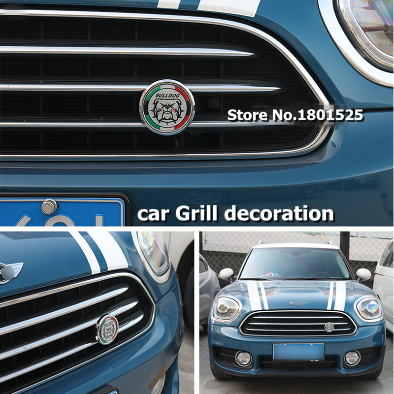 NEWcar racing grille for mini cooper f56 grill emblem badge front bumper countryman r60 car accessories r53 r55 R56 R58 F54 F55 sun protection cool hat car logo for mini cooper s r53 r56 r60 f55 f56 r55 f60 clubman countryman roadster paceman car styling