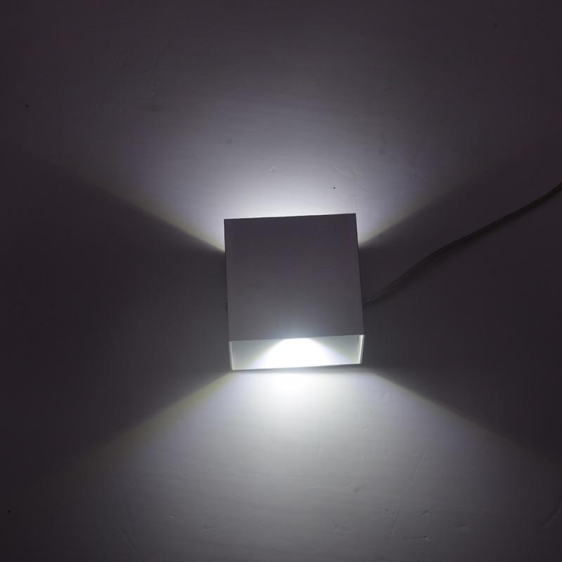 все цены на 2018 IP44 Waterproof 12W Indoor Outdoor Led Wall Lamp Modern Aluminum Adjustable Surface Mounted Cube Led Garden Porch Light онлайн