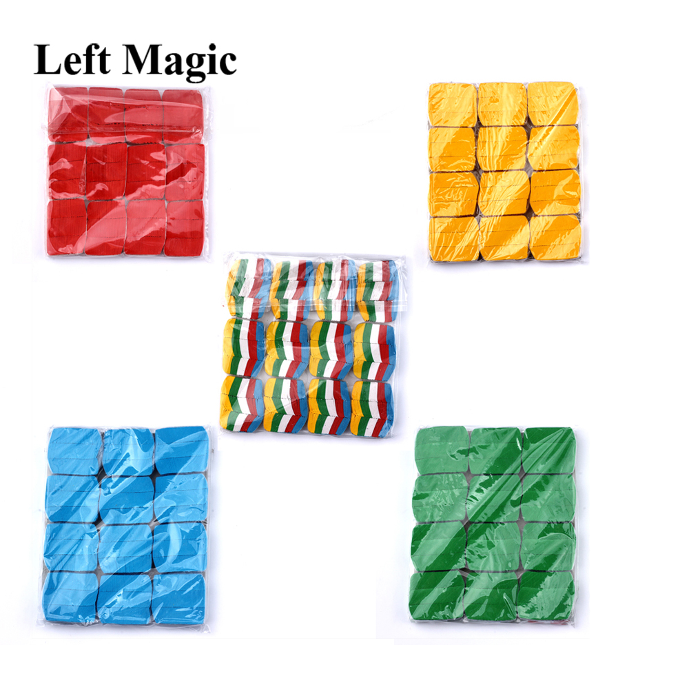 12PCS/Set Colorful Snowflakes Paper Magic Tricks Snow Storm Magic Paper For Magic Show Magician Accessories Classic Toy